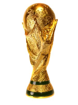 Spanish player lifts the World Cup