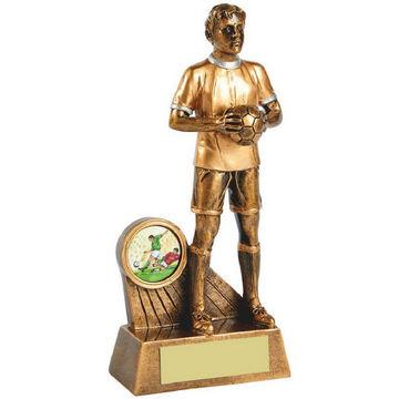 Antique Gold Standing Footballer
