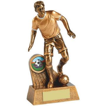 Antique Gold Action Footballer Resin