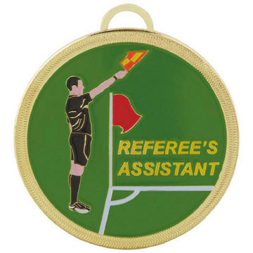 Colour Enamelled Football Referee's Assistant Medal