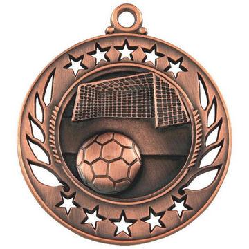 60mm Football Ball & Goal Medal