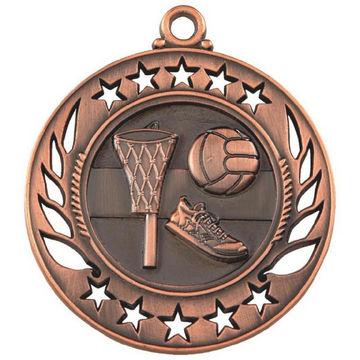 60mm Netball Medal