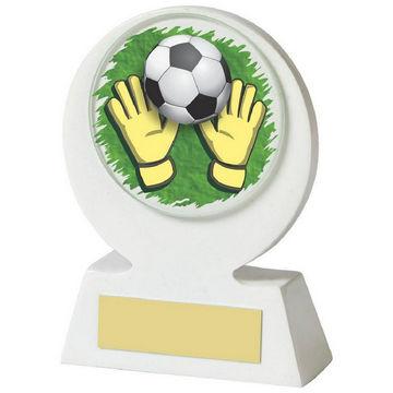 White Resin Goalkeeper Award