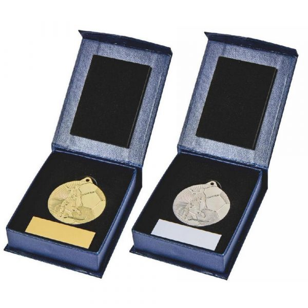 45mm Gold/Silver Football Medal