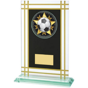 21cm Jade Glass Award with Black/Gold Panel