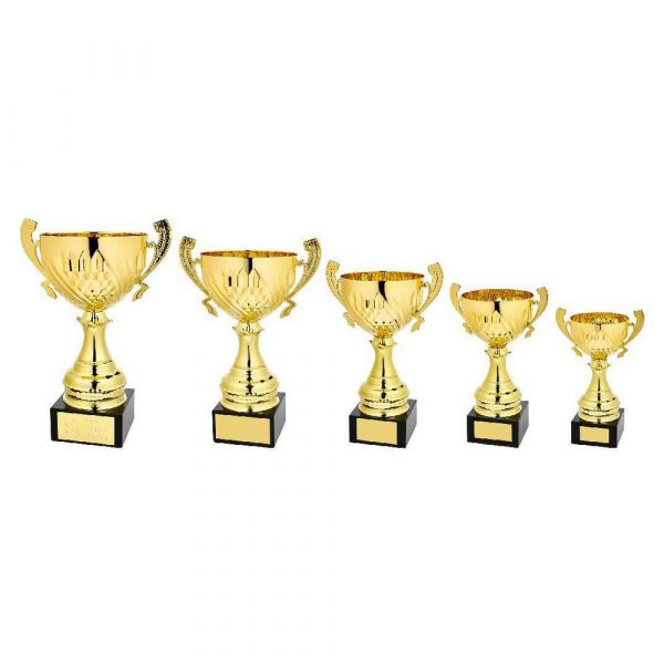 Gold Diamond Bowl Award with Handles