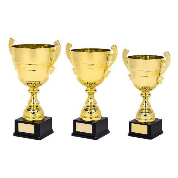 Large Gold Presentation Cup on Black Base