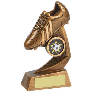 Antique Gold Football Boot Resin Award