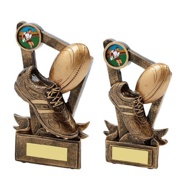 Gold Resin Boot & Ball Rugby Award