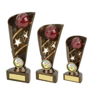 Gold Cricket Award - Ball and Stars
