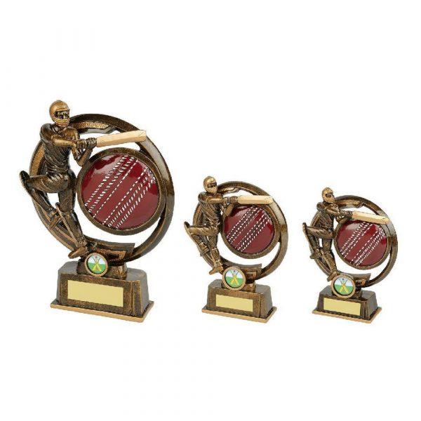 Gold Resin Mens Cricket Batsman Award