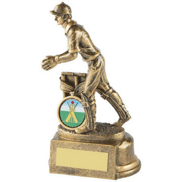 Gold Resin Wicket Keeper Cricket Trophy