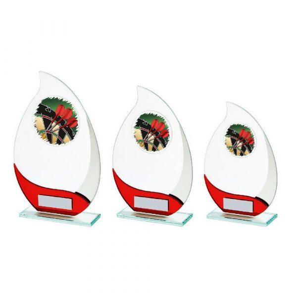 Jade/Red Glass Darts Award