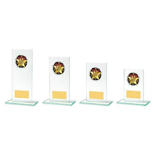 Rectangular Jade Glass Darts Stand Award