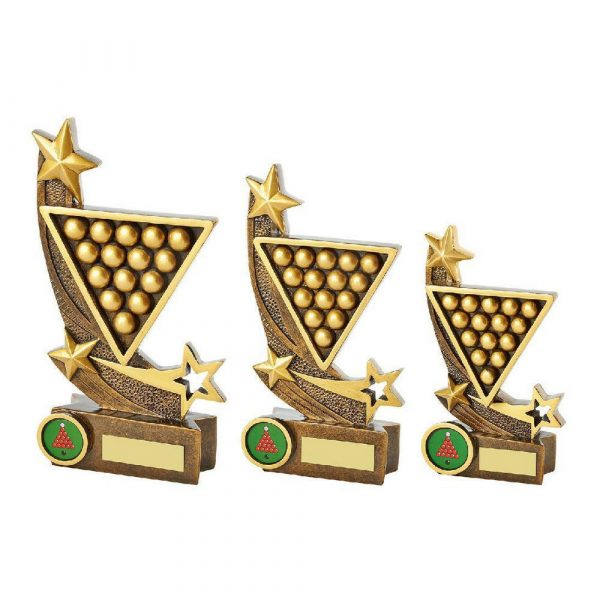 Gold Resin Snooker Award
