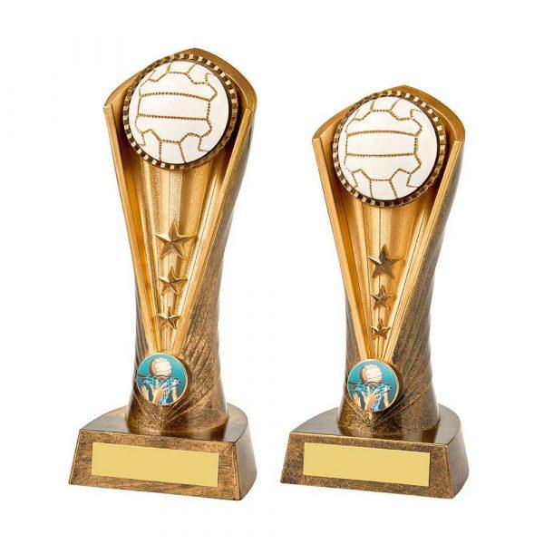 Antique Gold Netball Cobra Trophy