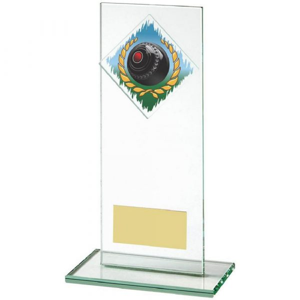 Jade Glass Upright Award for Lawn Bowls