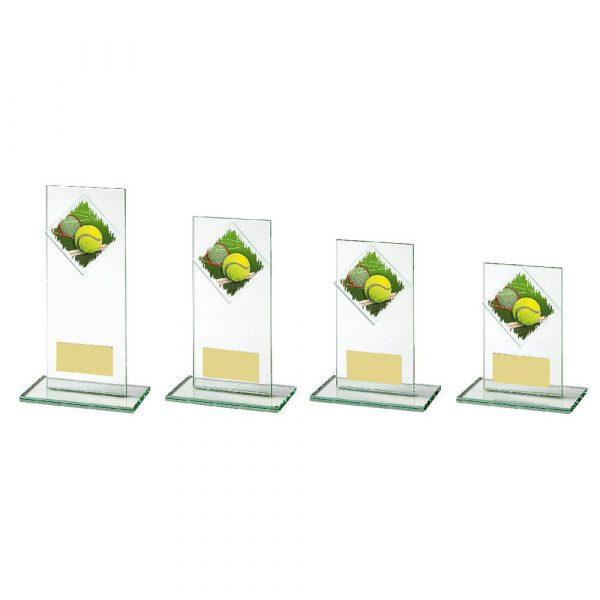 Jade Glass Upright Tennis Award