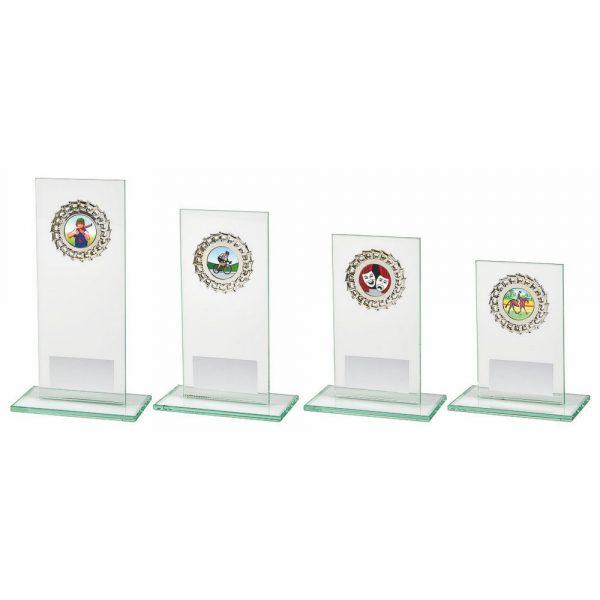 Jade Glass Upright Stand Award