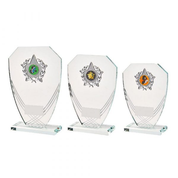 Curved Hexagonal Glass Trim Award