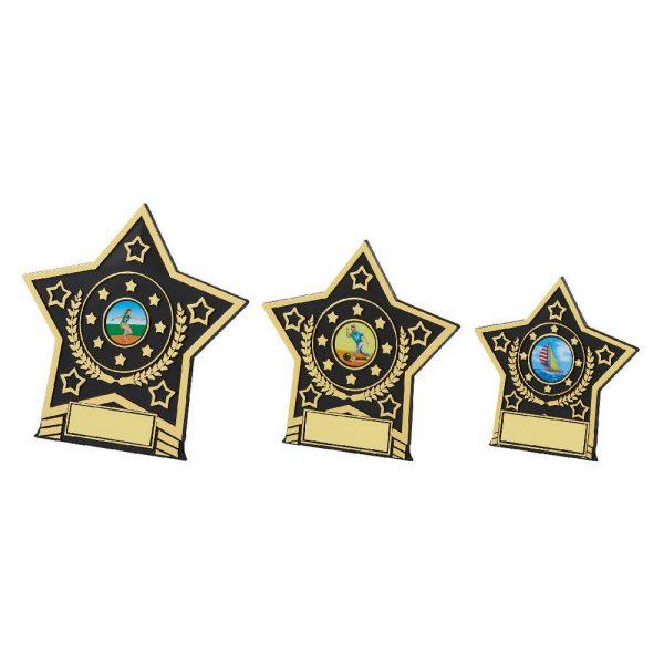 Black Star Plaque Trophy