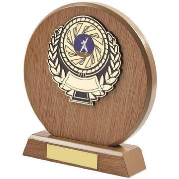 Light Wood Circle Sports Award