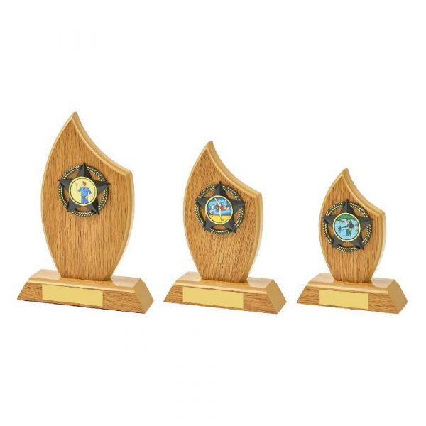 Light Oak Sail Wood Trim Award
