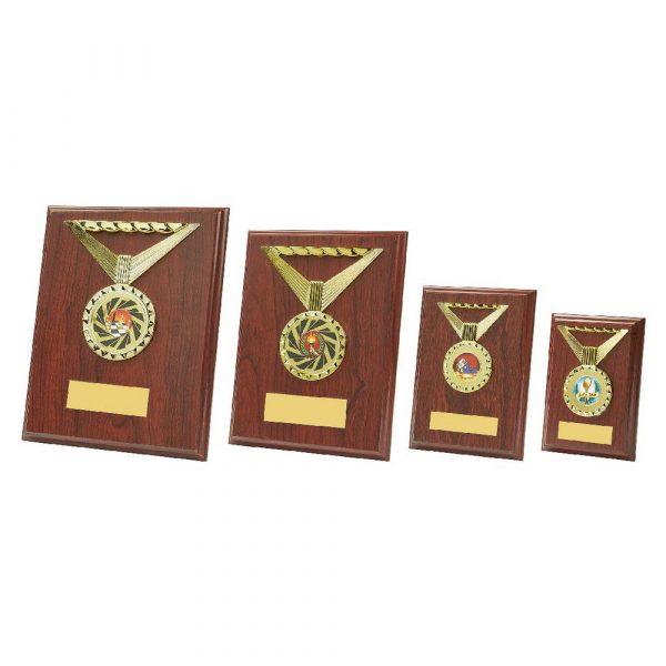 Rectangular Rosewood Medal Trim Plaques