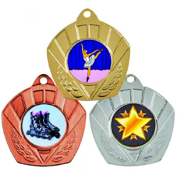 """50mm """"Shaped""""  Sports Medals"""