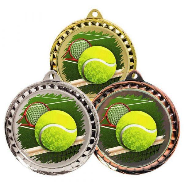 60mm Colour Print Sports Medal - Tennis