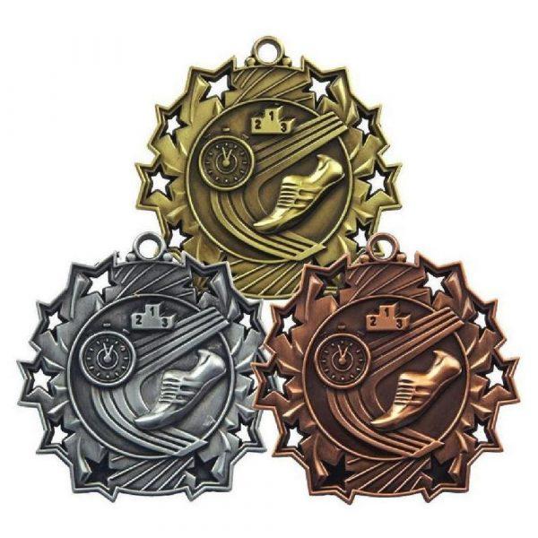 60mm Stars Athletics  Medal