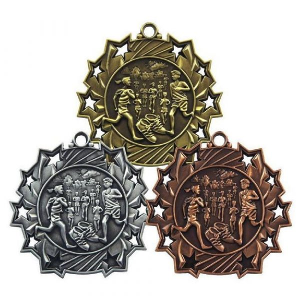 60mm Stars Distance Running Medal