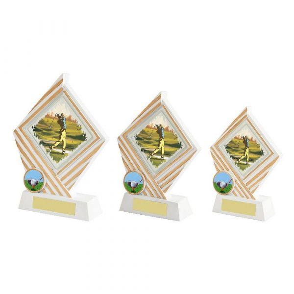 White Resin Diamond Golf Award