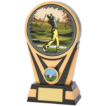 Resin Gold/Black Golf Award