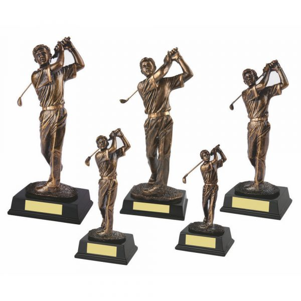 Gold Figure Mens Golf Swing Award