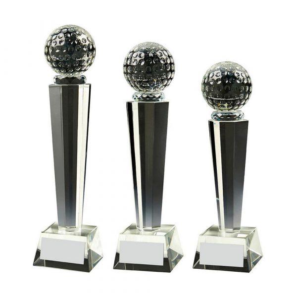 Crystal Column Golf Ball Award
