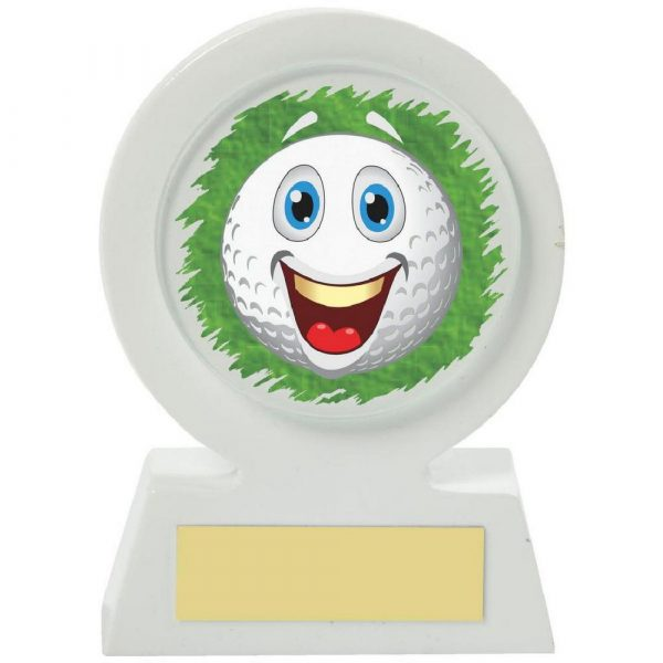 White Resin Golf Collectable - Happy