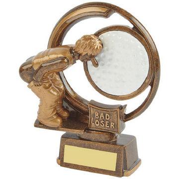 Bad Loser - Novelty Golf Trophy