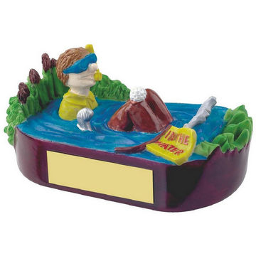 In the Water Novelty Golf Trophy