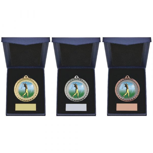Golf (M) Insert Medal in Presentation Case