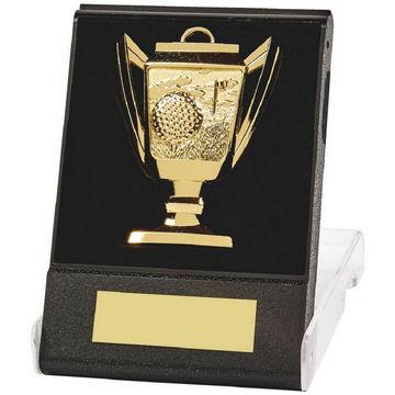 Cup design Golf Medal in Case
