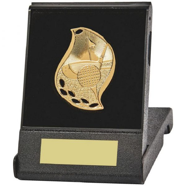 Attractive Flame Golf Medal in Case