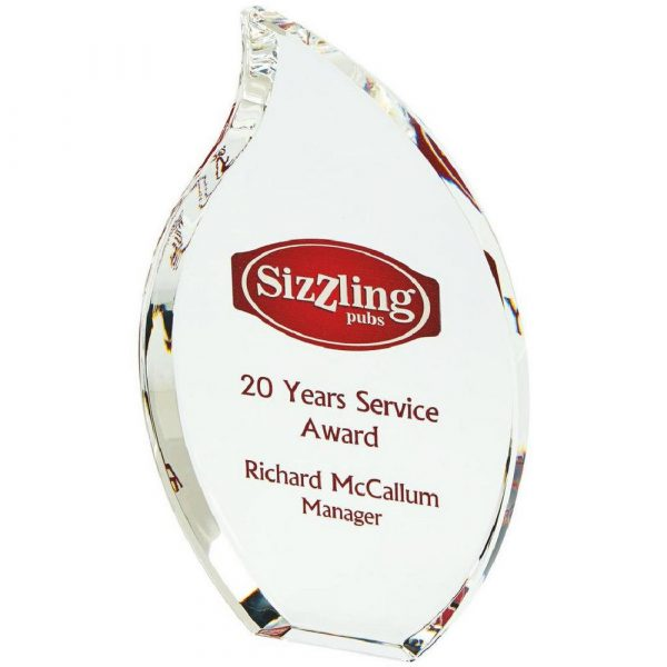 Free Standing Crystal Flame Award