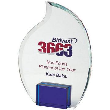 20cm Crystal Flame Award for Colour Print