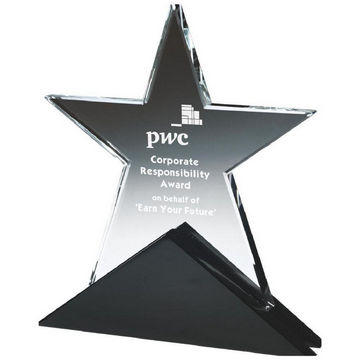 Crystal Star award on Black Base
