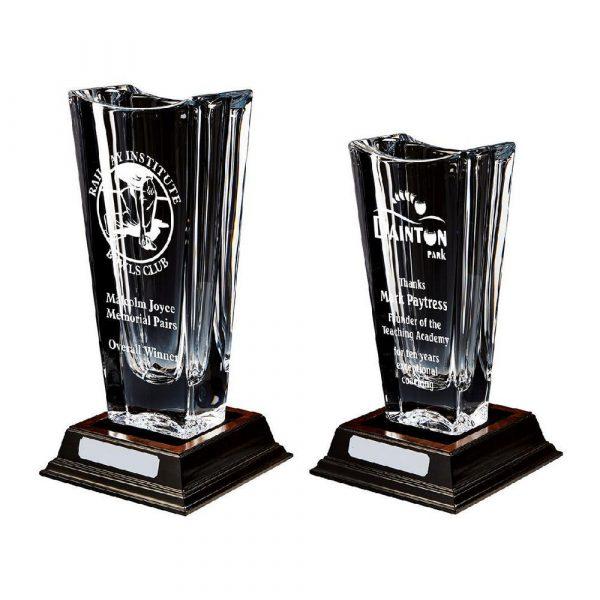 Large Bohemia Crystalite Vase Award