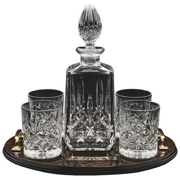 Decanter & 4 Spirit Glasses on Tray