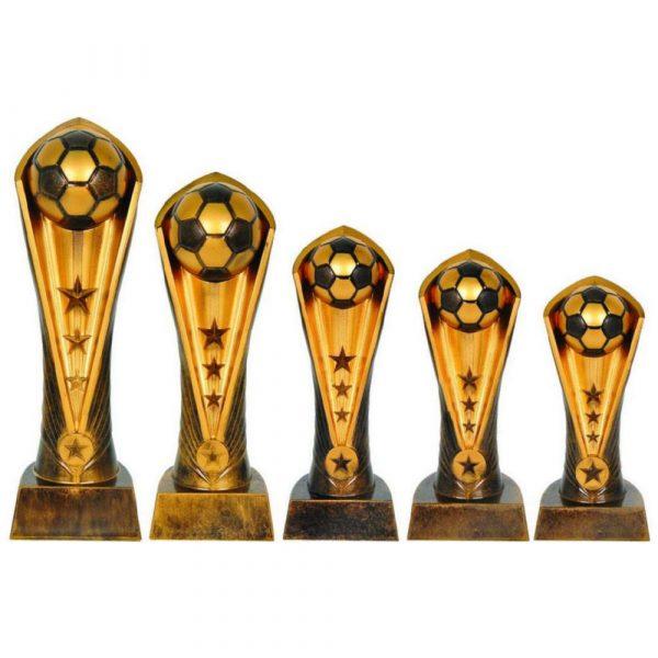 Antique Gold Cobra Football Trophy