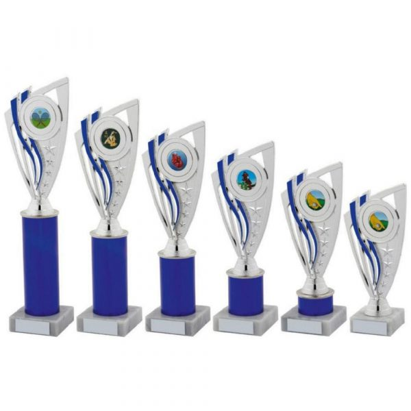 Blue Column Holder Trophy