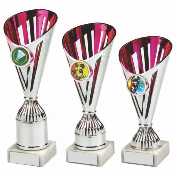 Silver/Pink Basket Sculpture Award